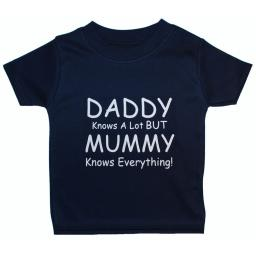 Daddy Knows a Lot But...Baby, Children T Shirt, Tops