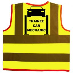 Trainee Car Mechanic Hi Visibility Children's Kids Safety Jacket