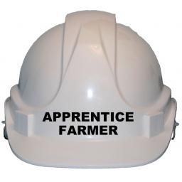 Apprentice Farmer Childrens Kids Hard Hat Safety Helmet