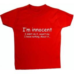 I'm Innocent I Didn't Do It...Baby, Childres T-Shirt