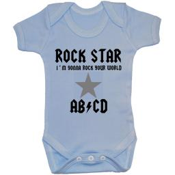 Rock Star Baby Grow, Bodysuit, Romper, T-Shirt, Vest