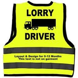 Lorry Driver Baby Children's Kids Hi Vis Safety Jacket