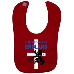 I Dribble For England Baby Feeding Bib Football