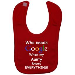 Who Needs Google When My Aunty...Baby Feeding Bib