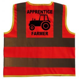 Apprentice Farmer Hi Visibility Children's Kids Safety Jacket