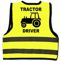 Tractor Driver Hi Visibility Children's Kids Safety Jacket