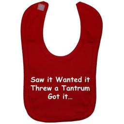 Threw a Tantrum...Baby Feeding Bib Newborn-3 Years