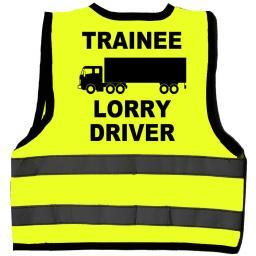 Trainee Lorry Driver Baby Children's Kids Hi Vis Safety Jacket