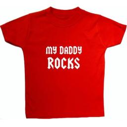 My Daddy Rocks Baby, Children T-Shirt, Tops
