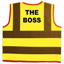 The Boss Hi Visibility Children's Kids Safety Jacket