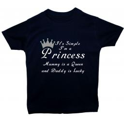It's Simple I'm a Princess Mummy is a Queen T-Shirt