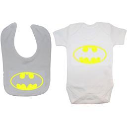 Bat Baby Grow, Bodysuit, Romper & Feeding Bib Batman
