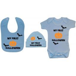 My First Halloween Baby Grow, Bodysuit & Bib & Hat