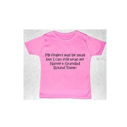 My Fingers May Be Small But I...Nanny & Grandad T-shirt