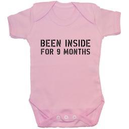 Been Inside For 9 Months Baby Grow, Bodysuit, Romper