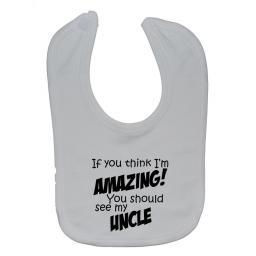 Amazing Uncle Baby Feeding Bib Newborn-3 Years Boy, Girl