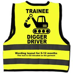 Trainee Digger Driver Hi Visibility Children's Kids Safety Jacket