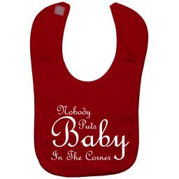 Nobody Puts Baby in the Corner Feeding Bib Dirty Dancing