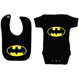 Bat Baby Grow, Bodysuit, Romper & Feeding Bib Batman