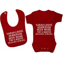 Personalised Been Inside Baby Grow, Bodysuit, Romper & Bib