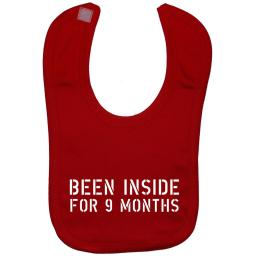 Been Inside for 9 Months Baby Feeding Bib Newborn-3 Years