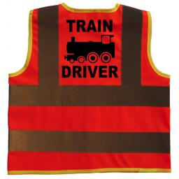 Train Driver Hi Visibility Children's Kids Safety Jacket
