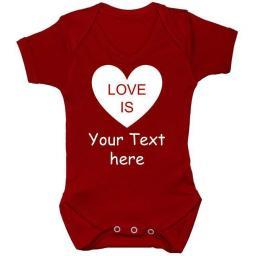 Love is...Personalised Baby Grow, Bodysuit, Romper