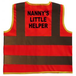 Nanny's Little Helper Hi Visibility Children's Kids Safety Jacket