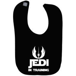Jedi in Training Baby Feeding Bib Touch Attach Star Wars