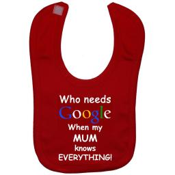 Who Needs Google When My Mum...Baby Feeding Bibs Touch Attach