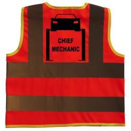 Chief Mechanic Hi Visibility Children's Kids Safety Jacket