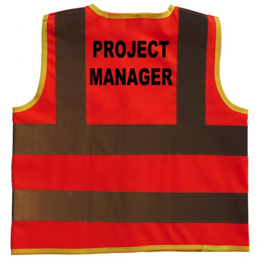 Project Manager Hi Visibility Children's Kids Safety Jacket