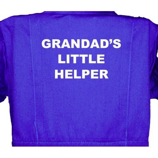 Grandad's Little Helper Childrens, Kids, Coverall, Boiler suit, Overalls