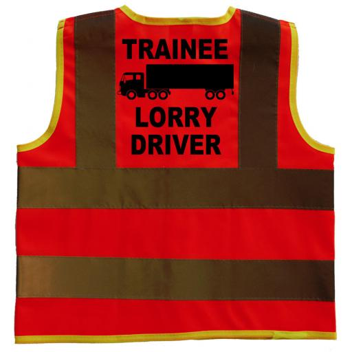 Trainee Lorry Driver Baby Children's Kids Hi Vis Safety Jacket