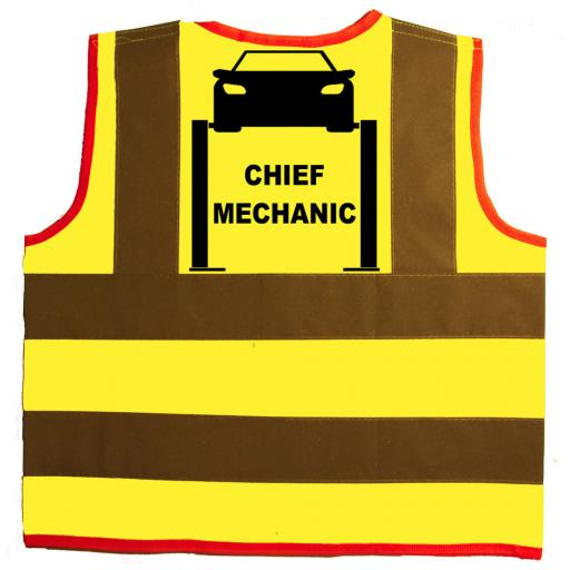 Chief Mechanic Hi Visibility Children's Kids Safety Jacket