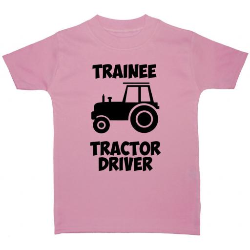 Trainee Tractor Driver Baby, Children T-Shirt, Top