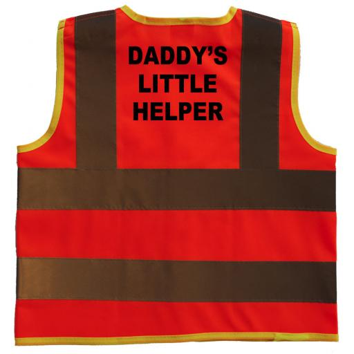 Daddy's Little Helper Hi Visibility Children's Kids Safety Jacket