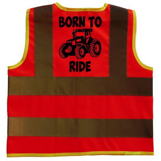 Born To Ride Hi Vis Safety Jacket Vest Children's