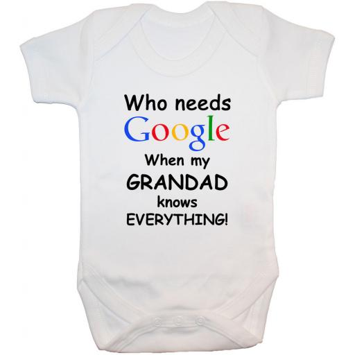 Who Needs Google When My Grandad...Baby Grow, Bodysuit