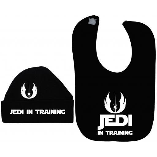 Jedi in Training Baby Feeding Bib & Hat/Cap Star Wars