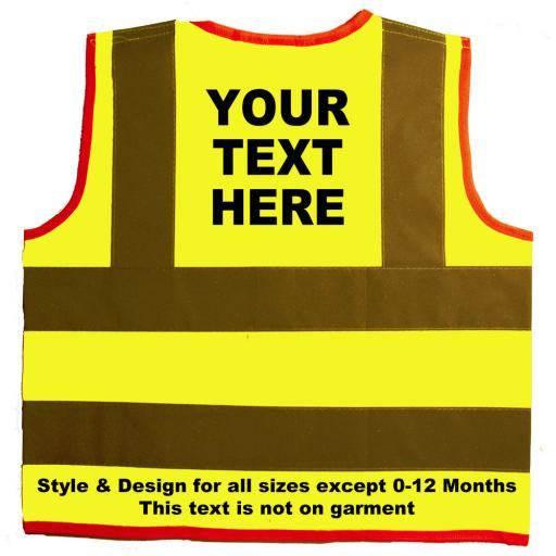 Children, Kids Personalised Hi Vis Safety Jackets Visibility