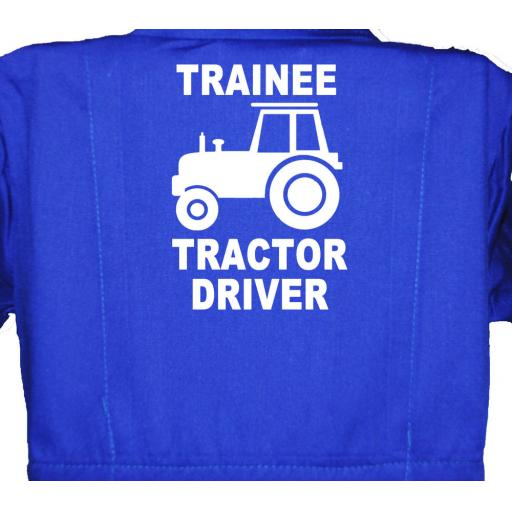 Trainee Tractor Driver Childrens, Kids, Coverall, Boiler suit, Overalls
