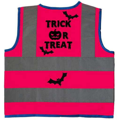 Halloween Trick or Treat Hi Vis Children's Kids Safety Jacket