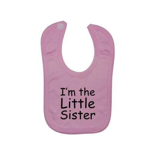 I'm The Little Sister Baby Feeding Bib Newborn-3 Years