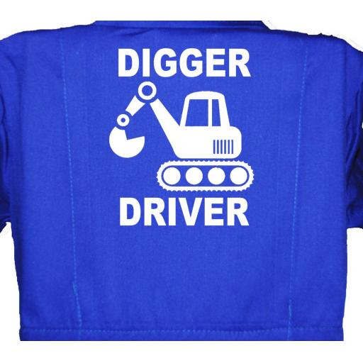 Digger Driver Childrens, Kids, Coverall, Boiler suit, Overalls