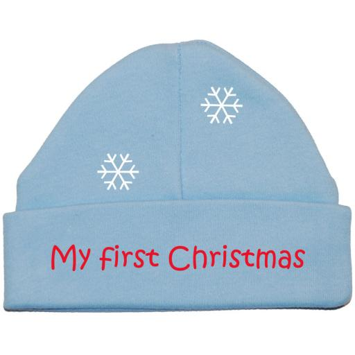 My First Christmas Baby Beanie Hat, Cap Xmas