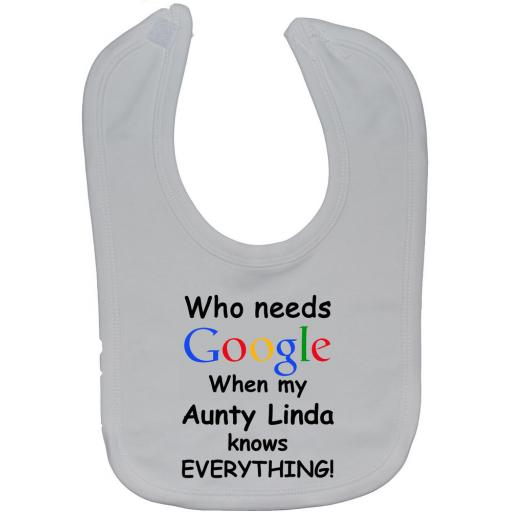 Google Aunty Personalised Name Baby Feeding Bib