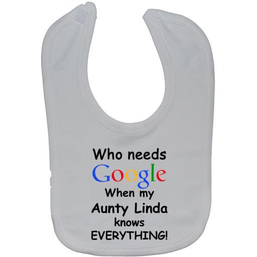 Google Aunty Personalised Name Baby Feeding Bib