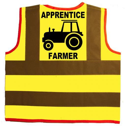 Apprentice Farmer Hi Visibility Children's Kids Safety Jacket