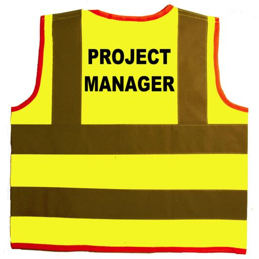 Project Manager Hi Visibility Children's Kids Safety Jacket